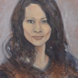 Portrait Comision Oil Sketch on Canvas
