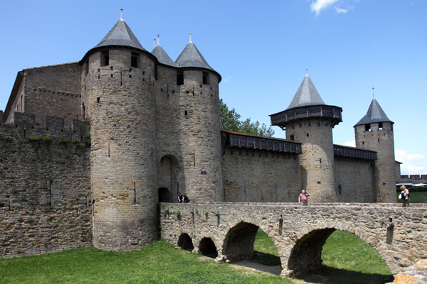 01D-2869 The Castle Ramparts of the Medieval City of Carcassonne Aude France