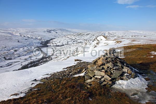 01D-9653 Arkengarthdale From Fremington Edge in Winter Arkengarthdale North Yorkshire