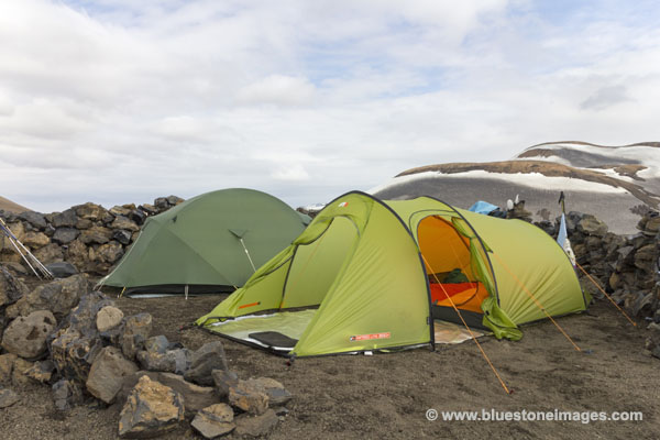 01M-0528 Temp Tents at the Hoskuldsskali Camping Area Iceland