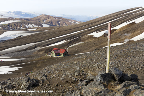 01M-0557 temp The Hoskuldsskali Mountain Hut Iceland