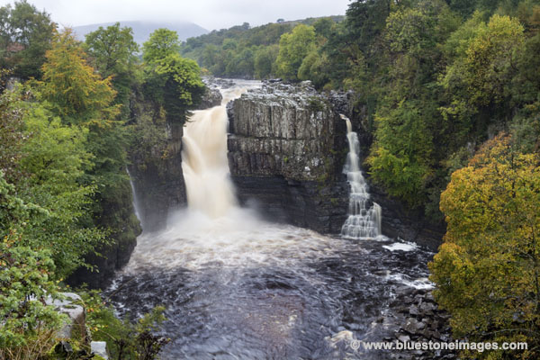 01M-5004 High Force and the River Tees in the Autumn Teesdale County Durham UK