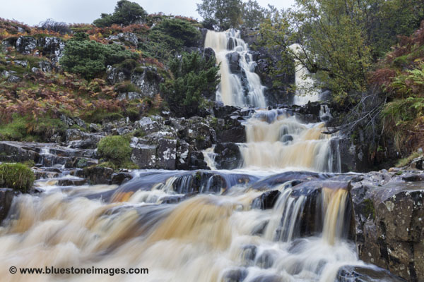01M-5122 Bleabeck Force In Autumn Upper Teesdale County Durham UK