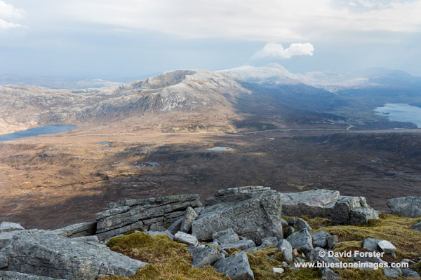 02M-1440 Glas Bheinn From the Summit of Sail Garbh (Quinag) Assynt Sutherland Scotland UK