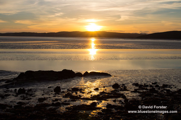 02M-2987 Sunset Over Morecambe Bay Silverdale Lancashire