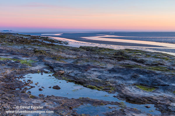 02M-3052 Afterglow Over Morecambe Bay Silverdale Lancashire