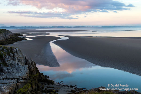 02M-3119 Pre Dawn Light Over Morecambe Bay With Incoming Tide Viewed from Jack Scout Silverdale Lancashire