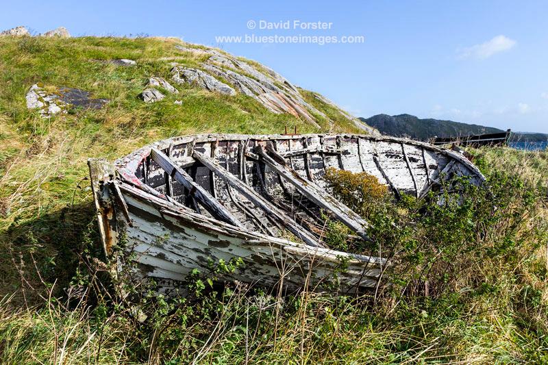 02M-8092 Old Boat, Bhaltos Village Isle of Lewis Hebrides Scotland UK