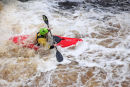 03D-6161 Canoeists on the River Tees at Low Force Upper Teesdale County Durham