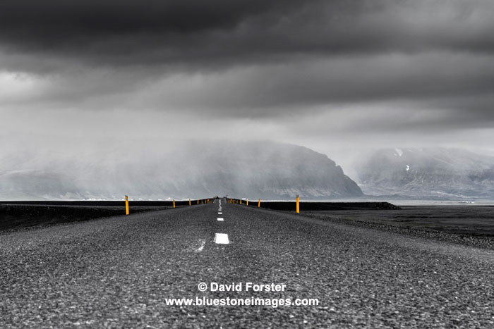 03M-0891 The Icelandic Ring Road Under a Stormy Sky Iceland
