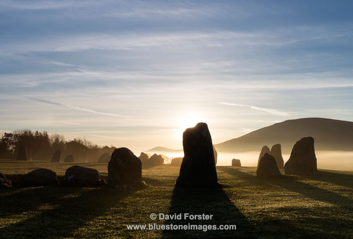 03M-2873 Sunrise at the Castlerigg Stone Circle Near Keswick Lake District Cumbria UK