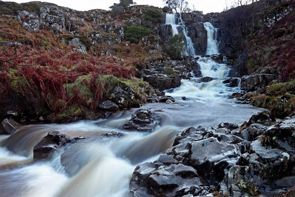 04D-1103 Bleabeck Force Waterfall Upper Teesdale County Durham UK