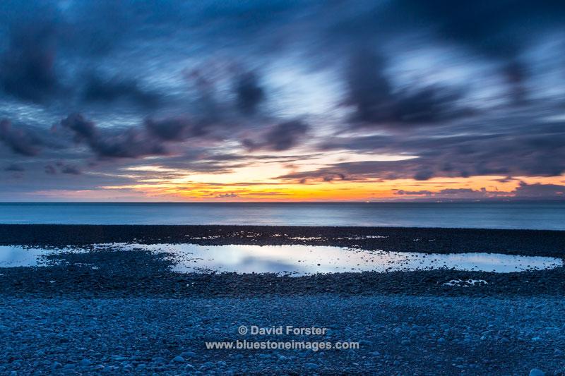 04M-7665 Sunset Over Porlock Bay, Porlock, Exmoor, Somerset UK