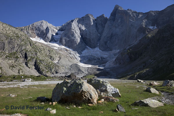 05D-2485 The Vignemale and the Remains of the Oulettes Glacier From the South French Pyrenees France.