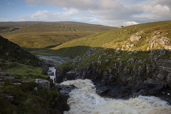 05D-4473 The River Tees and Mickle Fell From the Top of Cauldron Snout Upper Teesdale County Durham UK