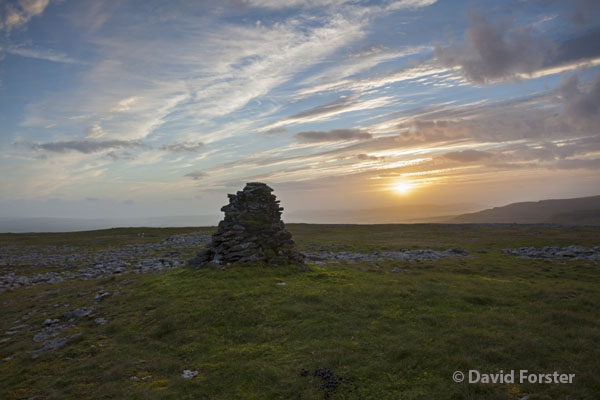 05D-5481 Sunset from White Scars on the Lower Slopes of Ingleborough Yorkshire Dales UK
