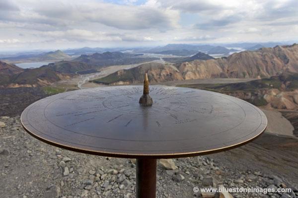 06D-1607 Temp The Summit of Blahnukur Near Landmannalaugar in the Fjallabak Area of Iceland.