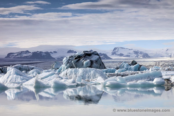 06D-2284 Jokulsarlon Glacial Lagoon Vatnajokull National Park Iceland.