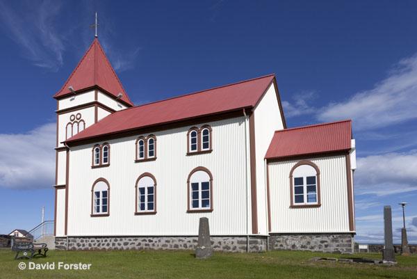 06D-2681 The Kalfatjarnarkirkja Church at Vatnsleysustrond Vogar on the Reykjanes Peninsula Iceland