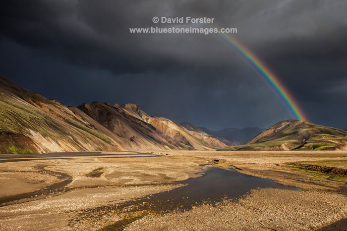 06D-4803 Clearing Storm over the Barmur Mountains, Landmannalaugar Fjallabak,  Iceland