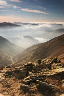 07-1078 Cinderdale Beck and Crumock Water From the Summit of Grasmoor, Lake District, Cumbria
