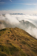 07-1137 The South Ridge of Grasmoor (Lad Howes) in Swirling Mist, Lake District, Cumbria