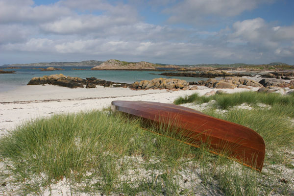 07-1783 Canoe and the View Across Sound of Iona from the Isle of Mull