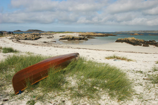 07-1785 Canoe and the View Across Sound of Iona from the Isle of Mull
