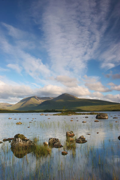 07-2549 The Black Mount and Lochan na h-Achlaise, Rannoch Moor Scotland