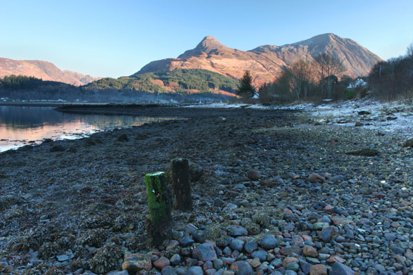 07-4510 The Pap of Glencoe from the Shores of Loch Leven Glencoe Scotland