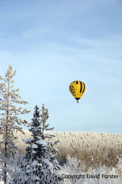 07-5216 Hot Air Balloon Above Forest Near Levi
