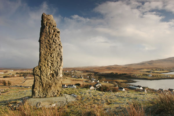 07-7880 The Duirnish Stone Above The Village of Dunvegan Isle of Skye