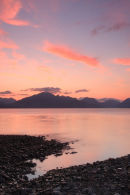 08-0718 The Cuillin Mountains at Sunset From Ob Gauscavaig Bay