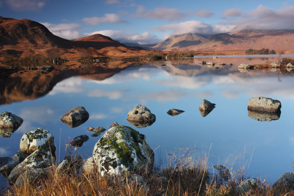 09-8139 The Black Mount Reflected in Lochan na h Achlaise Rannoch Moor Scotland