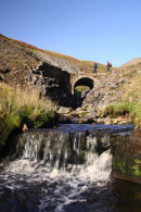 09-8299 Waterfall and Bridge Swinner Gill Yorkshire Dales