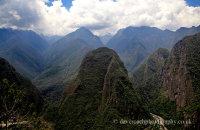 The impressive mountains surrounding Machu Picchu