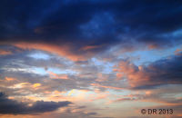 (9) Just sky at sunset