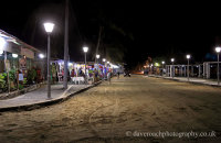 Puerto Villamil at night - main square