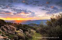 Sunrise over the Sierra Morena, Virgen de la Cabeza