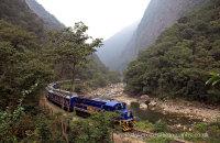 Vistadome train on the way to Machu Picchu
