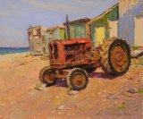 Launching Tractor,Skinningrove 10inx12in