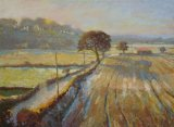 Winter Fields, West Tanfield 16x20