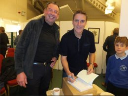 At a book launch with Iolo Williams