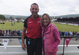 With the lovely Ruth Wignell ITV Wales weather girl, at the 2015 Royal Welsh Show