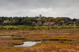 Blakeney from the salt marshes