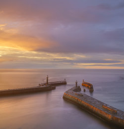 Whitby Harbour in Summer