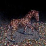 the race /   oil on canvas  90 cm 76 cm