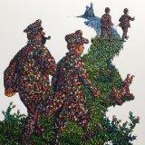 Black Island Tintin Commission/oil on card 80 x 90 cm
