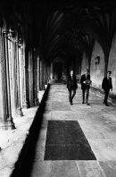 Cloisters and Students, Canterbury Cathedral