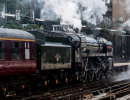 """70013 """"Oliver Cromwell"""" leaving Victoria Station, 23 June 2011"""